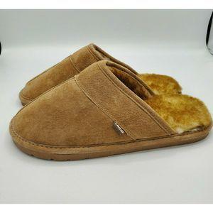 Lamo Tan Slip On Slippers Mens 10 Wool Leather